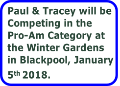 Paul & Tracey will be